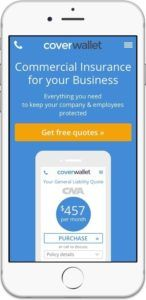 CoverWallet makes it simple for small businesses to understand, buy, and manage insurance. Access the platform from your phone or computer. (PRNewsFoto/CoverWallet)