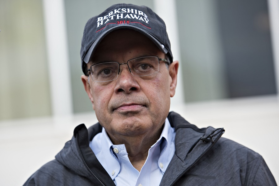ajit jain head of the berkshire hathaway reinsurance business on the sidelines of the