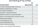 Aon global risks 2013