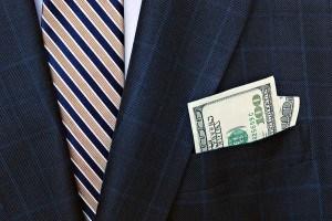 Business suit money