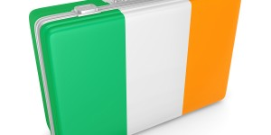Irish business Ireland flag