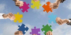 Merger acquistion puzzle pieces