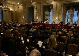 A panel discussion at the Property/Casualty Insurance Joint Industry Forum. Photo: Don Pollard