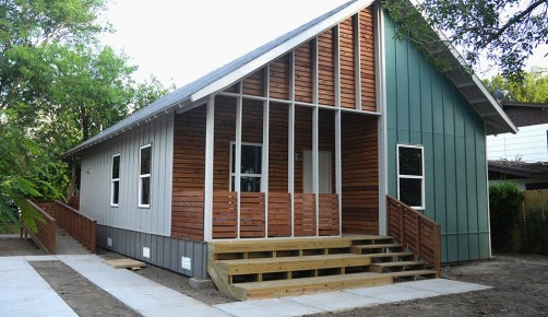 Photo from Texas A&M University A home built with input from Texas A&M researchers.