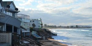 SYDNEY 13.06.2016, After the big storm, houses at Collaroy Beach front. The intense storm lashing the NSW coast has caused significant erosion at the Narrabeen and Collaroy Beach on Sydney's northern beaches last weekend.