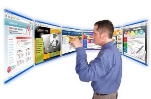 Business Man on the Internet Website