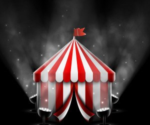 Circus Tent With Spotlights