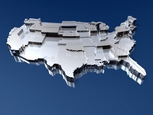 3D Map of the United States, U.S. map