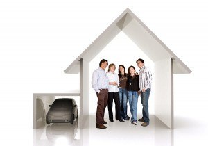 bigstock-Family-Home-And-Car-1017848