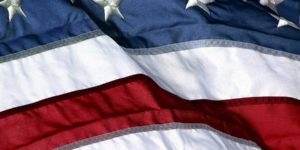close-up of us flag