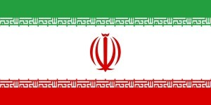 This is a digitally created image of the national flag of Iran.