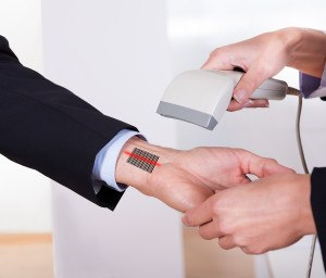 Scanning Barcode On The Hand