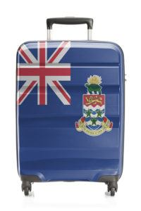 Suitcase painted into national flag series - Cayman Islands