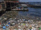 SEMPORNA, MALAYSIA - APRIL 24 2014: Plastic rubbish pollution in