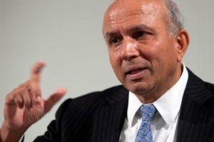Prem Watsa, CEO of Fairfax, speaking to financial journalists following the annual general meeting of Fairfax Financial Holdings Limited, held April 22, 2010 in Toronto, Ontario, Canada. Photographer Norm Betts/Bloomberg News